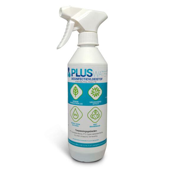 PLUSwater desinfectiemiddel Anolyte 500ml Sprayflacon