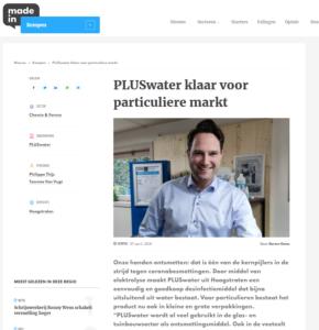 PLUSwater klaar voor particuliere markt