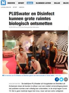 PLUSwater en Disinfect kunnen grote ruimtes biologisch ontsmetten